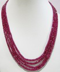 Ruby Necklace - Multi Strand