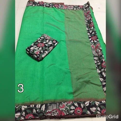 06657efd690d9 Kalamkari Patch Work Saree at Rs 999  piece