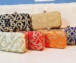Zari Work Ethnic Evening Clutches