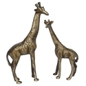 Brown Decorative Brass Metal Made Ziraf Animal Statue Made By Aakrati For Decor, Size/dimension: 5x1.5x9.5 Inch