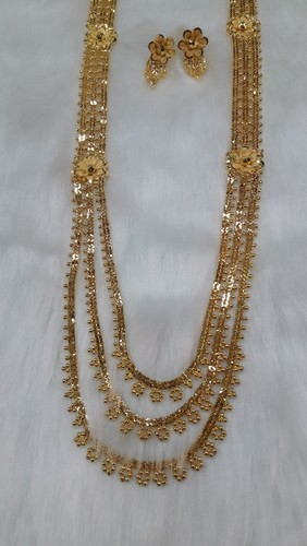 necklace proddetail big set rani plated long gold ap haar