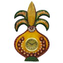 Wooden & Paper Mache Kalash Watch with Kundan Work