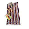 Velour Striped Bath Towel