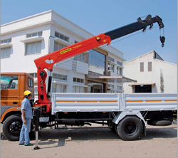 Palfinger Lorry Loader Cranes Truck Mounted Crane , Capacity: 5-10 ton and 0-5 ton