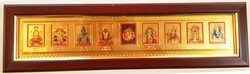 6x22 Inch Long Picture Frame With Gold Plated Mix Gods