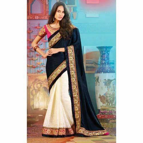 2778b1c8b4 Fancy Ladies Saree, Party Wear Saree - Resham Fabrics, Surat | ID ...