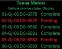 Automobile Service Station Customer Led Display Board
