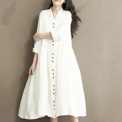 Plain Cotton Dress