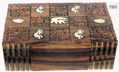 Wooden Carving Boxes Bamboo And Wooden Handicrafts Meenakshi
