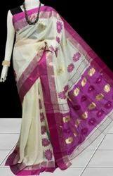 Tussar Silk Saree with Jamdani Work