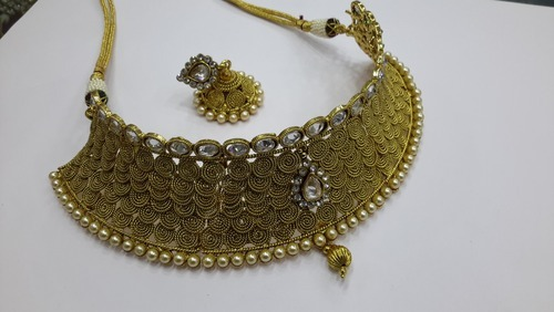 Antique Kundan Necklace Set Wholer