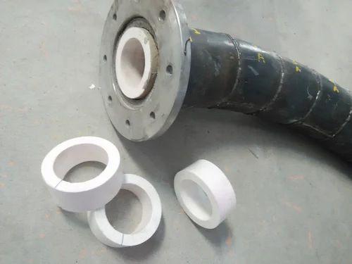 Round White Blue Abrasion Resistance Ceramic Lining Pipe
