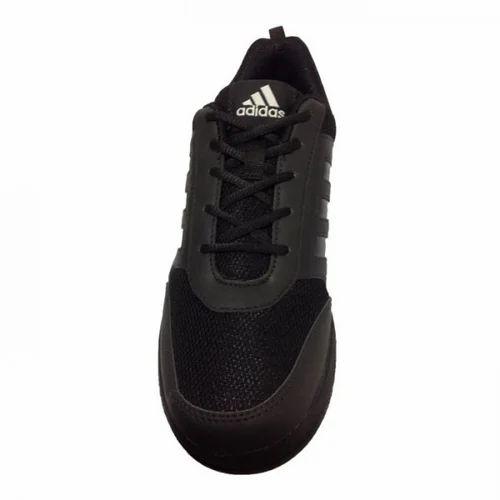Casual Wear Black Adidas School Shoes