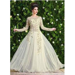 Astounding Net Party Wear Gown, Evening Gowns - Shree Exports ...