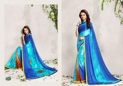 Trendy Digital Printed Georgette Saree