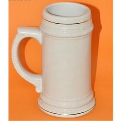 White Ceramic Beer Mug