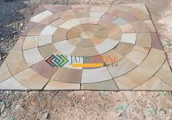 Buff Sandstone Square Kit Circle