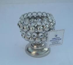 Aluminium Crystal Tea Light Holder