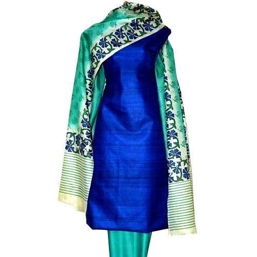 Tussar Silk Salwar Kameez Suit Material at Rs 2300 /piece ...