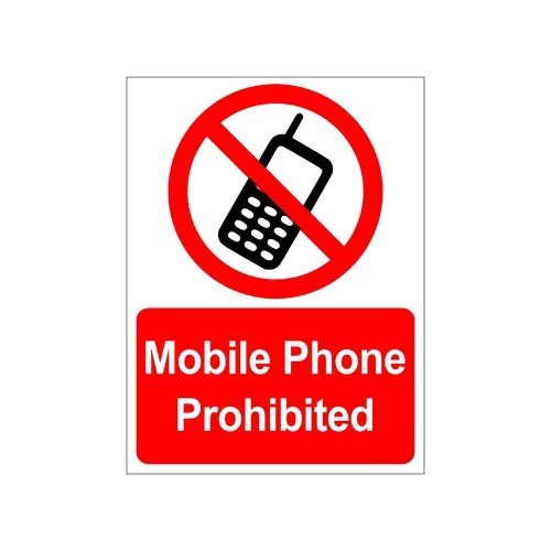 Clickforsign mobile phones prohibited sign sticker sign15