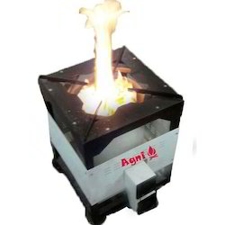 Black Stainless Steel Biomass Pellets Stove, For Domestic To Commercial