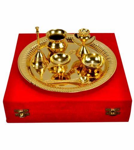 Navratri Brass Pooja Thali