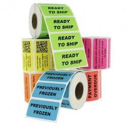 Paper Colored Printed Adhesive Labels, Size: 100 Mm X 100 Mm, Packaging Type: Roll