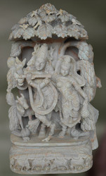 Chalkstone Sculpture of Radha and Krishna-Abhedabhava