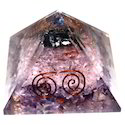 Orgone Pyramid With Pink Quartz
