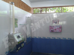 Wall Mountable Sanitary Napkin Destroyer and Dispenser