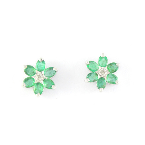 d76ca1d8b Emerald Gemstone 925 Sterling Design Silver Earring at Rs 5000 ...