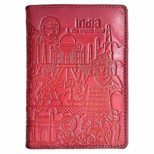 Cherry Color Passport Holder