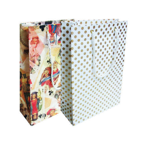 Assorted Prints & Colors PAPER THEATRE Medium Regular Gift Bag, Size/dimension: 17.5 X 255 X 7.5 Cms