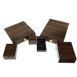 Imported Amber Oak Jewellery Wooden Boxes