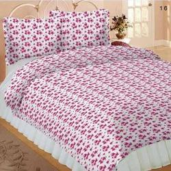 Cotton floral print Cotton Bedsheets, Type: Double, 1 Bed Sheet & 2 Pillow Covers