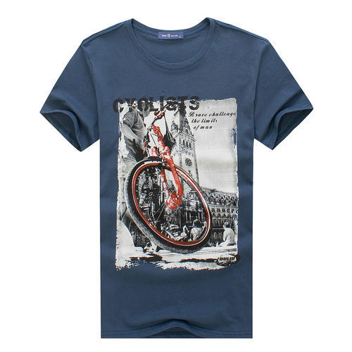 Cotton Round Neck Mens Printed T Shirt, Rs 110 /piece ...