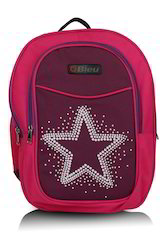 Dark Pink Small School Bag