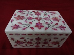 Alabaster Marble Hand Carved Box For Gift
