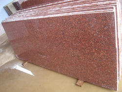 Jhansi Red Granite Slab, for Countertops, Thickness: 20-25 mm