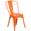 Iron Powder Coated Tolix Style Metal Cafe Chair