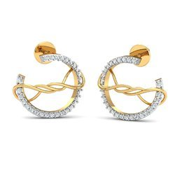 14K Gold Diamond Earring