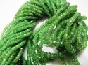 Tsavorite Garnet Beads - Rondelle Faceted