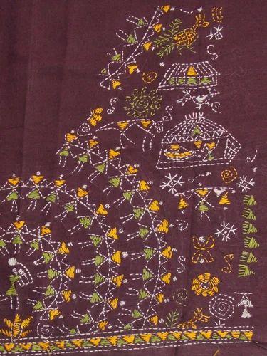 797f6266476f8 Kantha Blouse - Warli Style Kantha Work Blouse Fabric Wholesaler ...