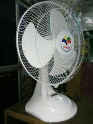 Plastic, Stainless Steel White Table Fan 16