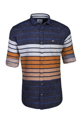Orange Horizontal Stripes Shirt