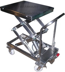 Lift Table Ss Manual Duplex Scissor Lift Manufacturer