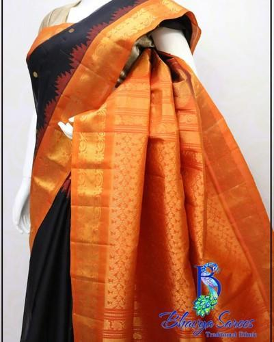 05f58c22ef Silk Gadwal Sico Saree, Hand, 6.3 M (with Blouse Piece), Rs 6800 ...