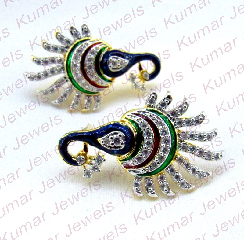 Gold Finish with Faux Diamonds and Silver Finish with Green stones Mang Tika