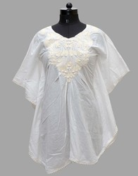 Embroidery White Ladies Top