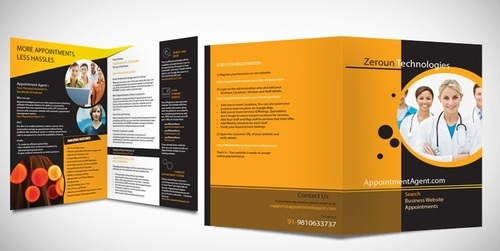single fold brochures catalogs printing services in sir syed ahmed